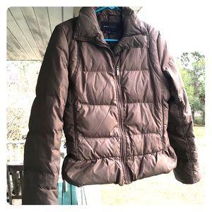 BCBG MaxAzria Brown Puffer Coat Small